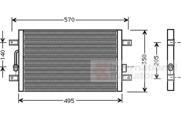 Condenseur, climatisation - VAN WEZEL - 17005240