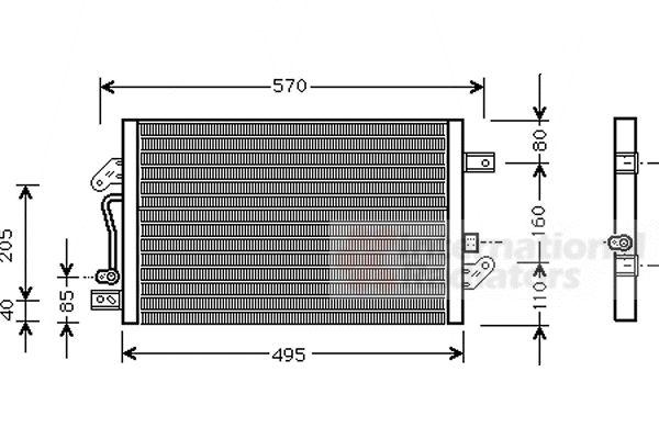 Condenseur, climatisation - VAN WEZEL - 17005241