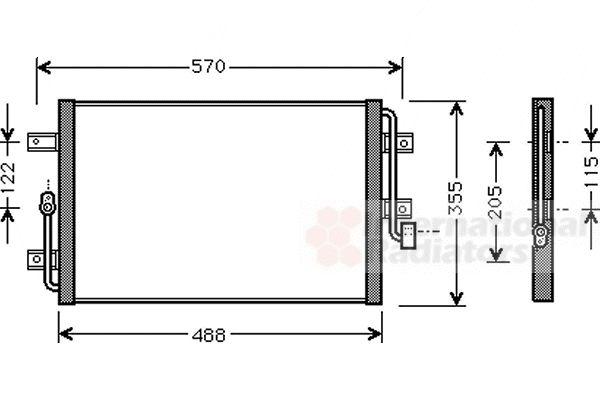 Condenseur, climatisation - VAN WEZEL - 17005245