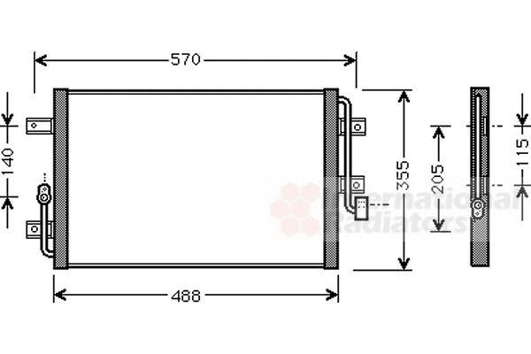 Condenseur, climatisation - VAN WEZEL - 17005246