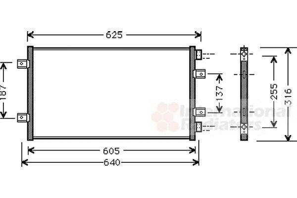 Condenseur, climatisation - VAN WEZEL - 17005247