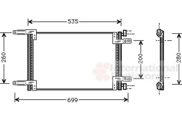 Condenseur, climatisation - VAN WEZEL - 17005248