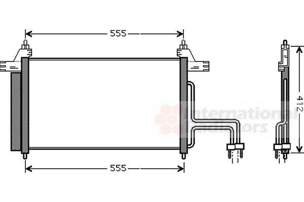 Condenseur, climatisation - VAN WEZEL - 17005253