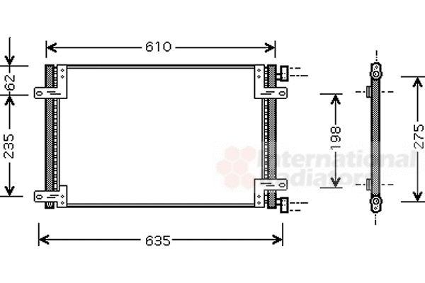Condenseur, climatisation - VAN WEZEL - 17005255