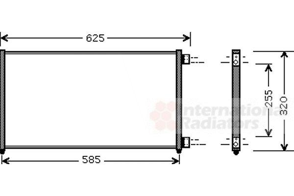Condenseur, climatisation - VAN WEZEL - 17005256