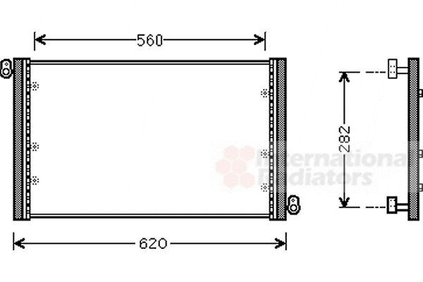 Condenseur, climatisation - VAN WEZEL - 17005272