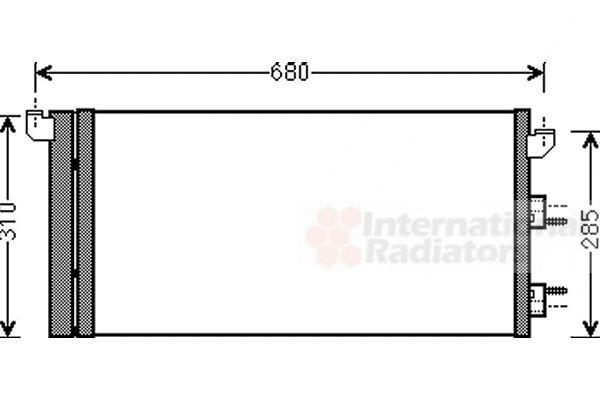 Condenseur, climatisation - VAN WEZEL - 17005293