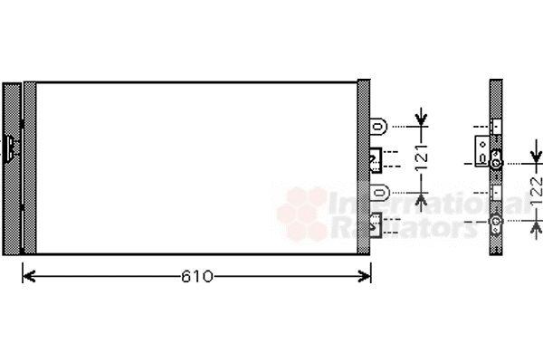 Condenseur, climatisation - VAN WEZEL - 17005298