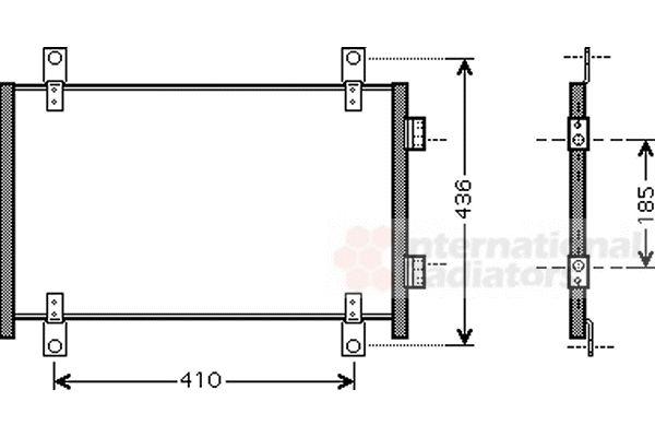 Condenseur, climatisation - VAN WEZEL - 17005302