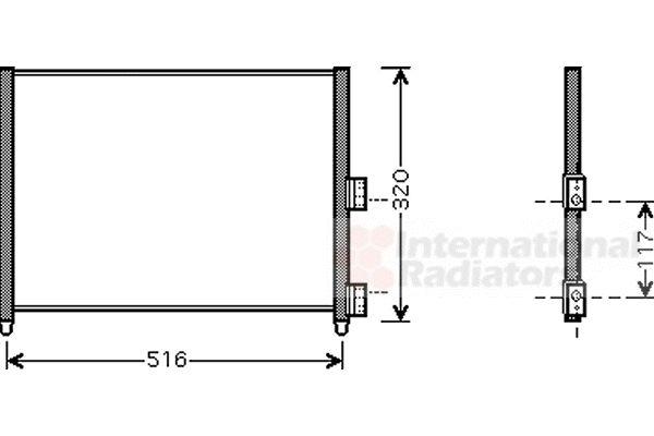 Condenseur, climatisation - VAN WEZEL - 17005303