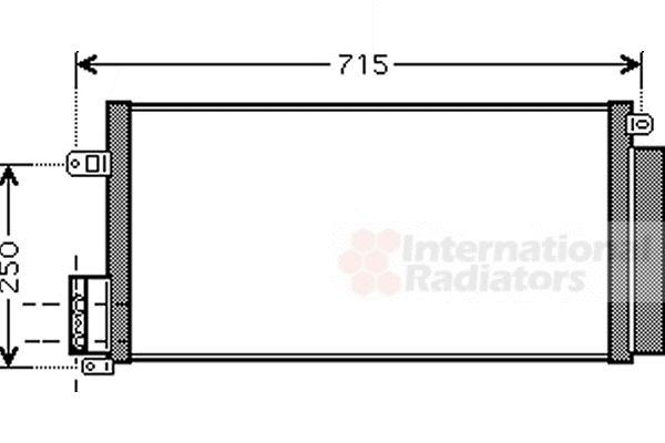 Condenseur, climatisation - VAN WEZEL - 17005310