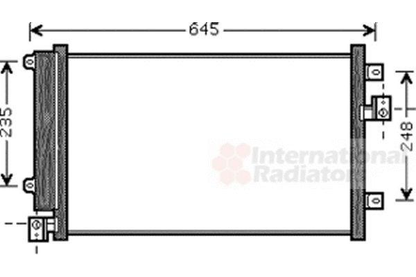 Condenseur, climatisation - VAN WEZEL - 17005328