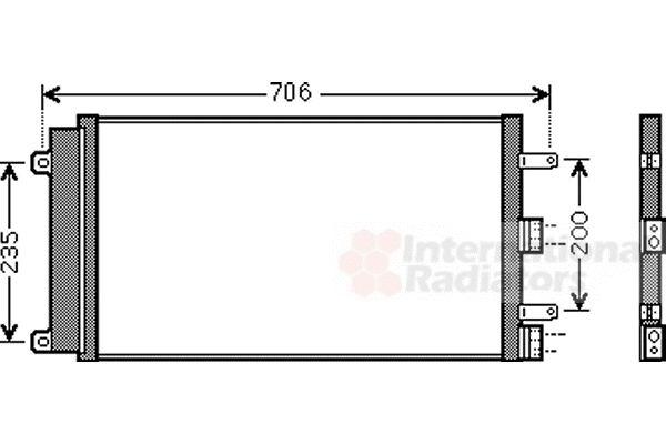 Condenseur, climatisation - VAN WEZEL - 17005342