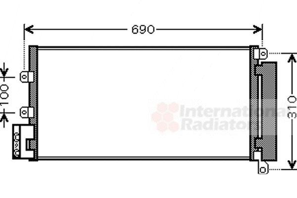 Condenseur, climatisation - VAN WEZEL - 17005356