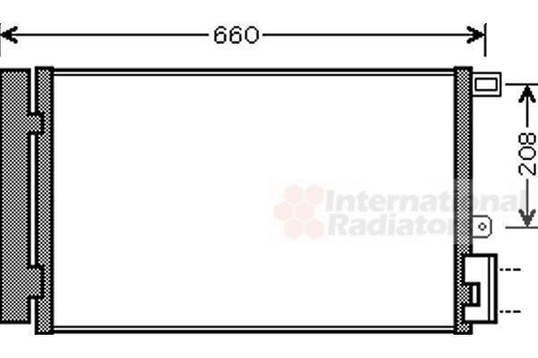 Condenseur, climatisation - VAN WEZEL - 17005357