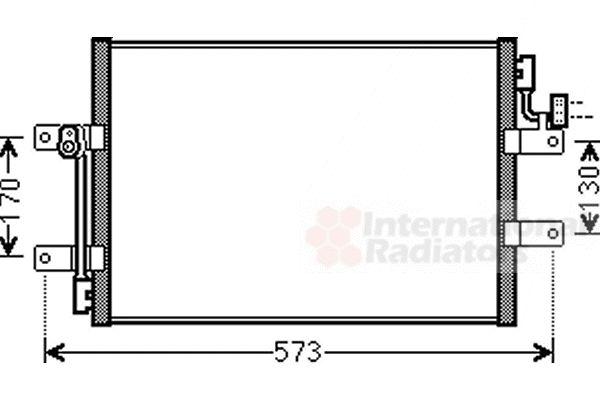 Condenseur, climatisation - VAN WEZEL - 17005393