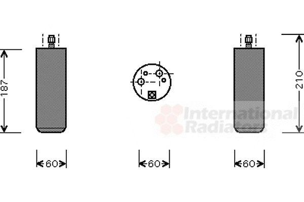 Filtre déshydratant, climatisation - VWA - 88VWA1700D073