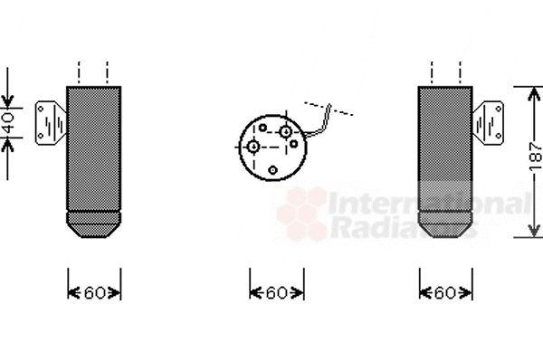 Filtre déshydratant, climatisation - VAN WEZEL - 1700D075