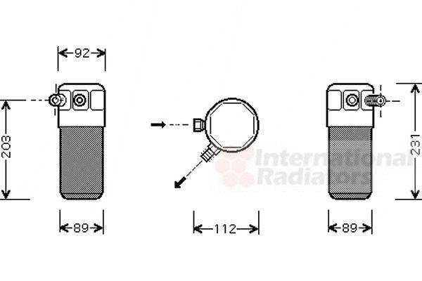 Filtre déshydratant, climatisation - VAN WEZEL - 1700D105