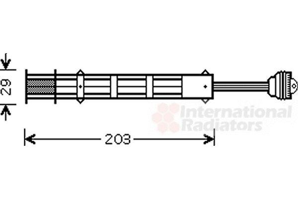 Filtre déshydratant, climatisation - VAN WEZEL - 1700D282