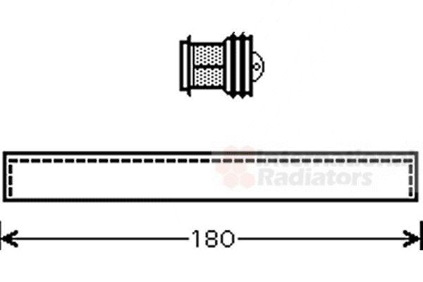 Filtre déshydratant, climatisation - VAN WEZEL - 1700D343