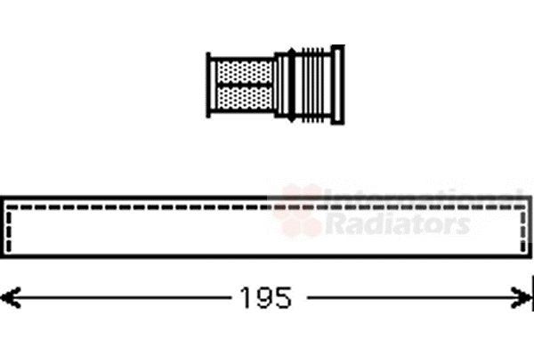 Filtre déshydratant, climatisation - VAN WEZEL - 1700D344