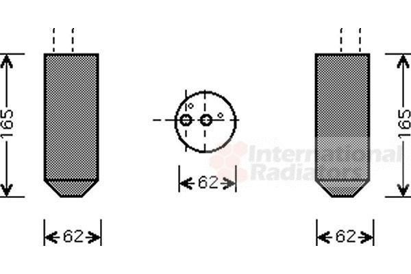 Filtre déshydratant, climatisation - VAN WEZEL - 1700D348