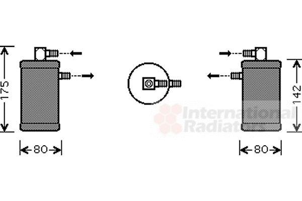 Filtre déshydratant, climatisation - VAN WEZEL - 1700D349