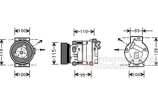 Compresseur, climatisation - VWA - 88VWA1700K033