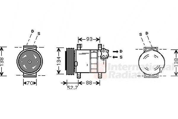 Compresseur, climatisation - VAN WEZEL - 1700K088