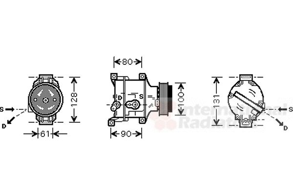 Compresseur, climatisation - VAN WEZEL - 1700K103