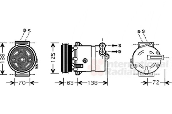 Compresseur, climatisation - VAN WEZEL - 1700K334