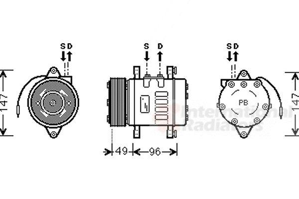 Compresseur, climatisation - VAN WEZEL - 1700K365