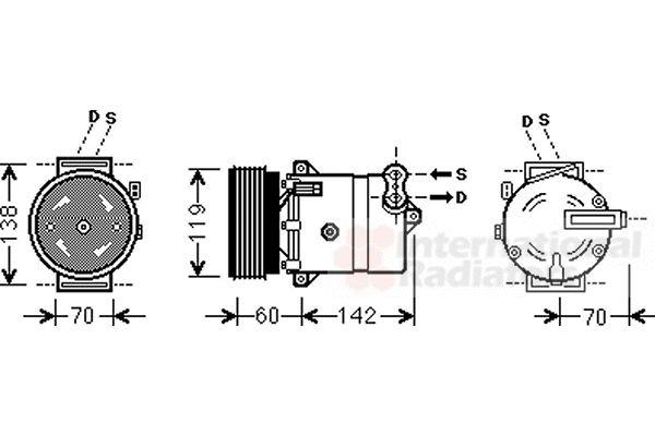 Compresseur, climatisation - VAN WEZEL - 1700K383