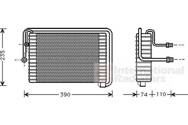Evaporateur climatisation - VAN WEZEL - 1700V021