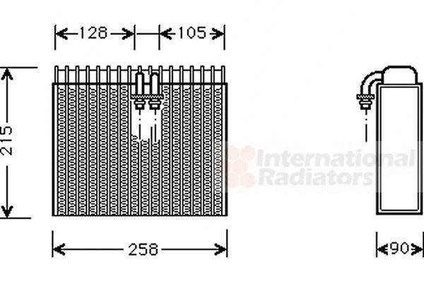 Evaporateur climatisation - VAN WEZEL - 1700V071