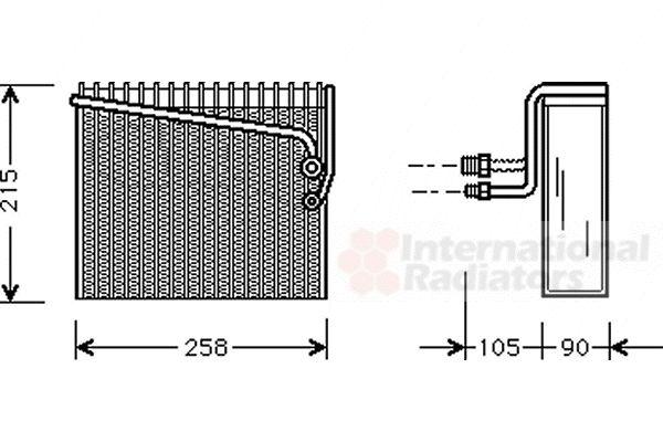 Evaporateur climatisation - VAN WEZEL - 1700V072