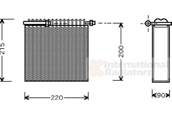 Evaporateur climatisation - VAN WEZEL - 1700V104