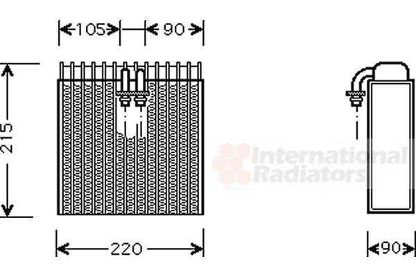 Evaporateur climatisation - VAN WEZEL - 1700V257