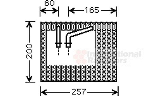 Evaporateur climatisation - VAN WEZEL - 1700V339