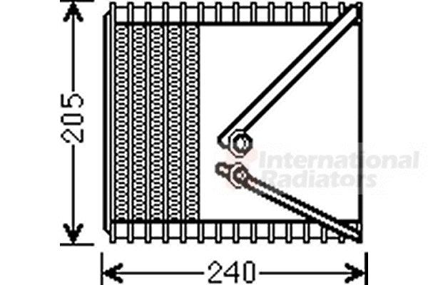 Evaporateur climatisation - VAN WEZEL - 1700V381