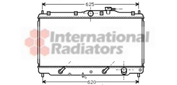 Radiateur, refroidissement du moteur - VAN WEZEL - 25002011
