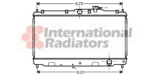 Radiateur, refroidissement du moteur - VAN WEZEL - 25002016