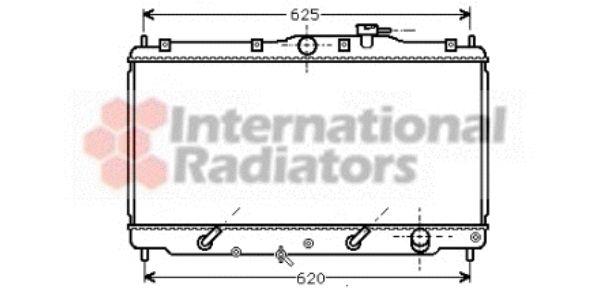 Radiateur, refroidissement du moteur - VAN WEZEL - 25002017