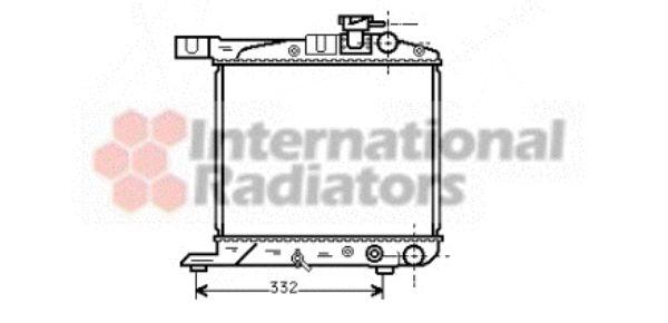 Radiateur, refroidissement du moteur - VAN WEZEL - 25002018