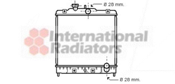 Radiateur, refroidissement du moteur - VAN WEZEL - 25002020