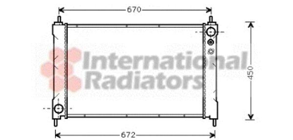 Radiateur, refroidissement du moteur - VAN WEZEL - 25002036