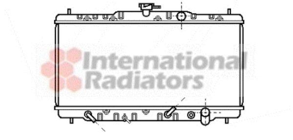 Radiateur, refroidissement du moteur - VAN WEZEL - 25002041