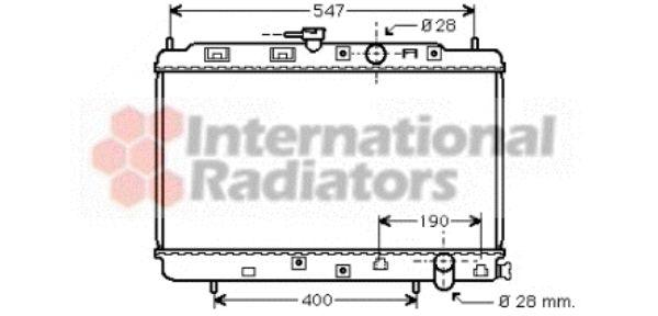 Radiateur, refroidissement du moteur - VAN WEZEL - 25002042