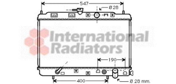 Radiateur, refroidissement du moteur - VAN WEZEL - 25002043